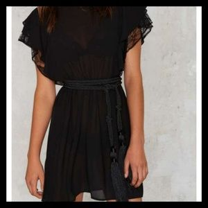 🆕 Brand New Nasty Gal Flutter Sleeve Lacey Dress